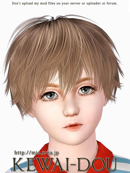 Kisaragi (Hair for The Sims3) | KEWAI-DOU