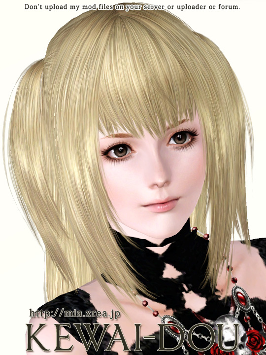 Misa A Hair For The Sims3 Kewai Dou