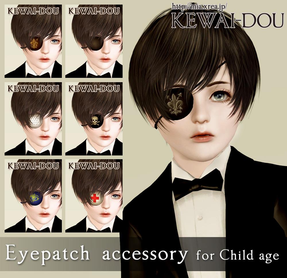 The sims 4 hair accessories - Kewai_uc_accessoryeyepatch