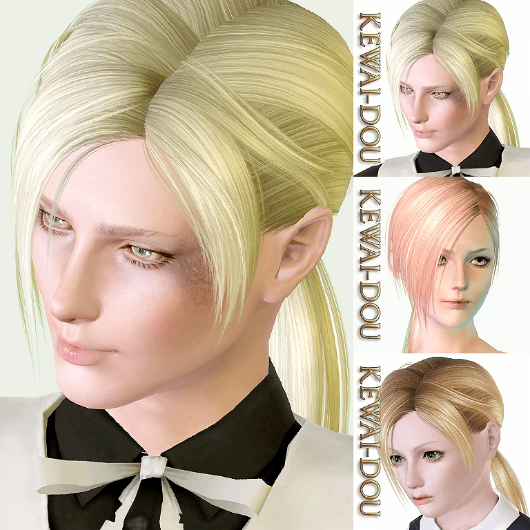 Annie V2 Hair For The Sims3 Kewai Dou