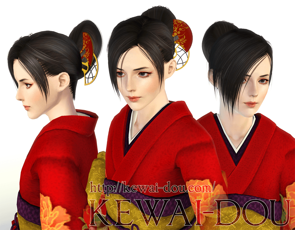 Annie V3 Hair For The Sims3 Kewai Dou