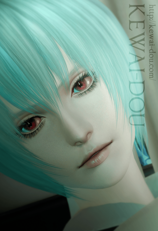 "KEWAI-DOU Sims3 ""Rei Ayanami from Evangelion""1"