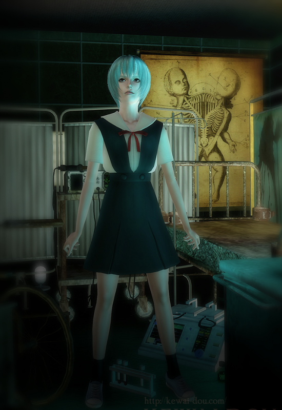 "KEWAI-DOU Sims3 ""Rei Ayanami from Evangelion""2"