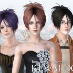 KEWAI-DOU Sims3 Sangrose hair for femaleKEWAI-DOU ザ・シムズ3 髪型「Sangrose」女性用