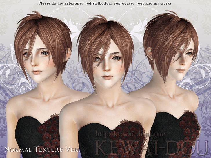 KEWAI-DOU Sims3 Michaelis hair Normal texture ver for female