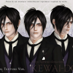KEWAI-DOU Sims3 Michaelis hair Normal texture ver for maleKEWAI-DOU ザ・シムズ3 髪型「Michaelis」 Normal texture ver男性用