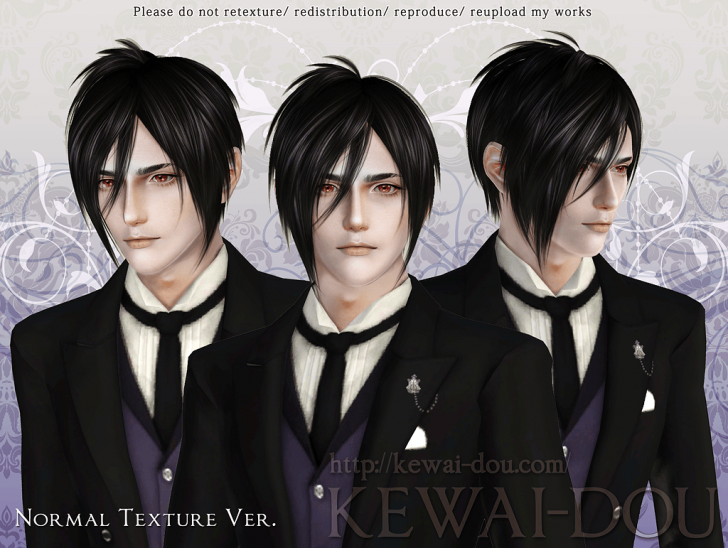 KEWAI-DOU Sims3 Michaelis hair Normal texture ver for male
