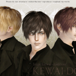 KEWAI-DOU Sims3 Lezginka hair for maleKEWAI-DOU ザ・シムズ3 髪型「Lezginka」男性用
