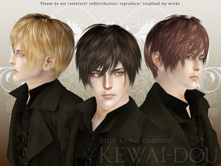 KEWAI-DOU Sims3 Lezginka hair for male