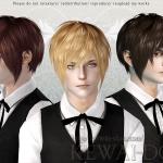 KEWAI-DOU Sims3 Masquerade hair for maleKEWAI-DOU ザ・シムズ3 髪型「Masquerade」男性用