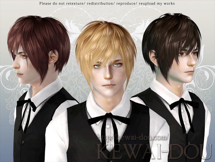 KEWAI-DOU ザ・シムズ3 髪型「Masquerade」男性用