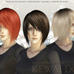 KEWAI-DOU Sims3 Shikishima hair for femaleKEWAI-DOU ザ・シムズ3 髪型「敷島」女性用