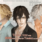 KEWAI-DOU Sims3 Tumblr3000 hair for maleKEWAI-DOU ザ・シムズ3 髪型「Tumblr3000」男性用