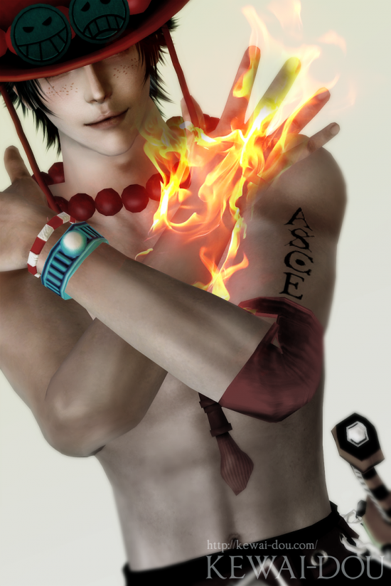 "KEWAI-DOU Sims3 ""Ace from Onepiece""2"