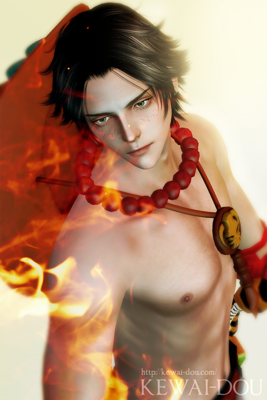 "KEWAI-DOU Sims3 ""Ace from Onepiece""4"