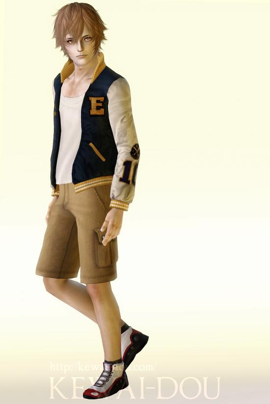 """KEWAI-DOU Sims3 """"Tsunayoshi Sawada from Katekyo Hitman Reborn!""""1"""