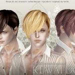 KEWAI-DOU Sims3 Cavallo hair for maleKEWAI-DOU ザ・シムズ3 髪型「Cavallo」男性用