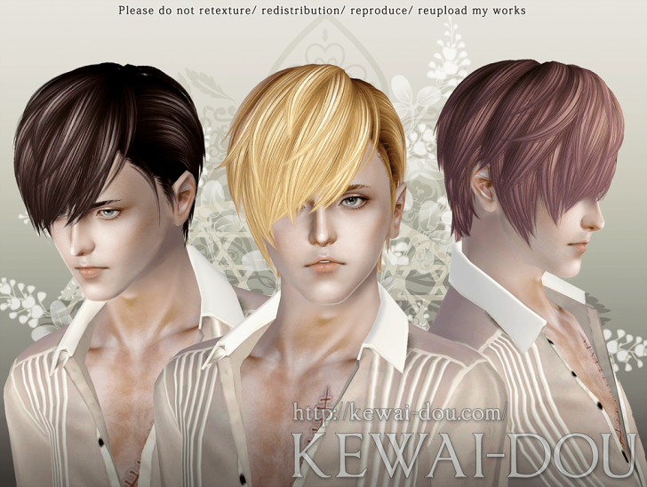 KEWAI-DOU Sims3 Cavallo hair for male