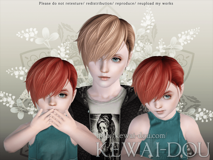 KEWAI-DOU Sims3 Cavallo hair for child and toddler