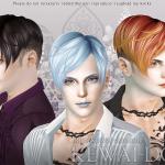 KEWAI-DOU Sims3 DragQueen hair for maleKEWAI-DOU ザ・シムズ3 髪型「DragQueen」男性用