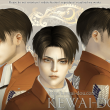 Levi – Shaved ver. (Hair for The Sims3)