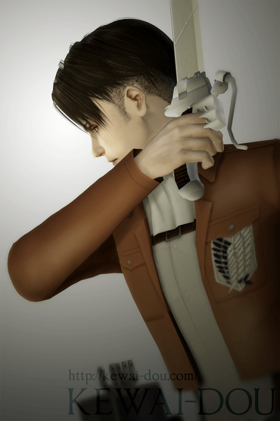 "KEWAI-DOU Sims3 ""Levi from Attack on Titan""1"