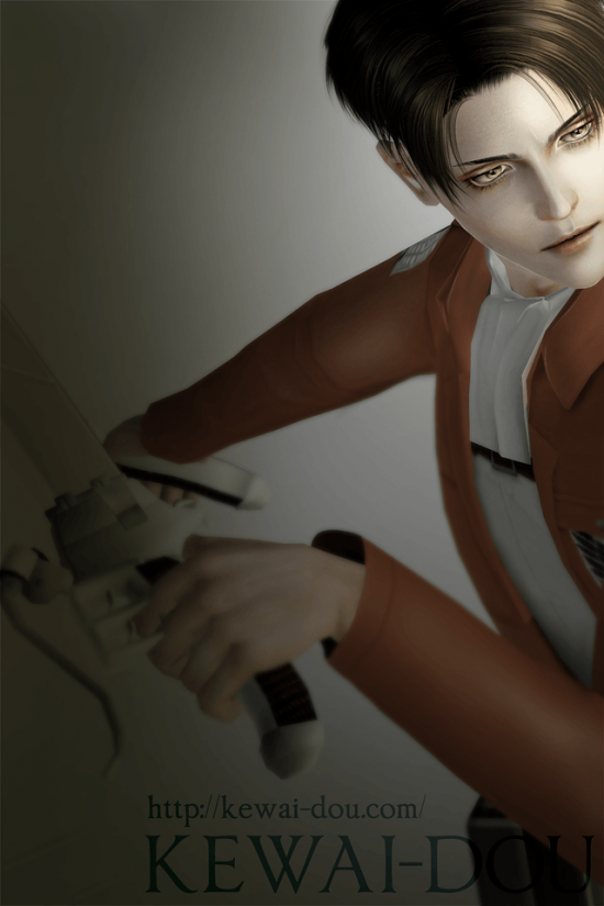 "KEWAI-DOU Sims3 ""Levi from Attack on Titan""2"