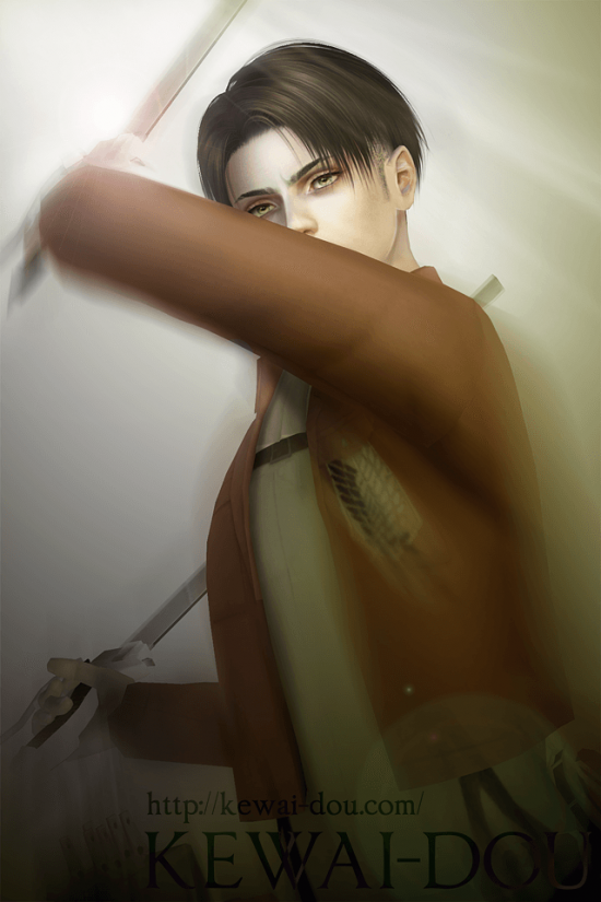 "KEWAI-DOU Sims3 ""Levi from Attack on Titan""3"