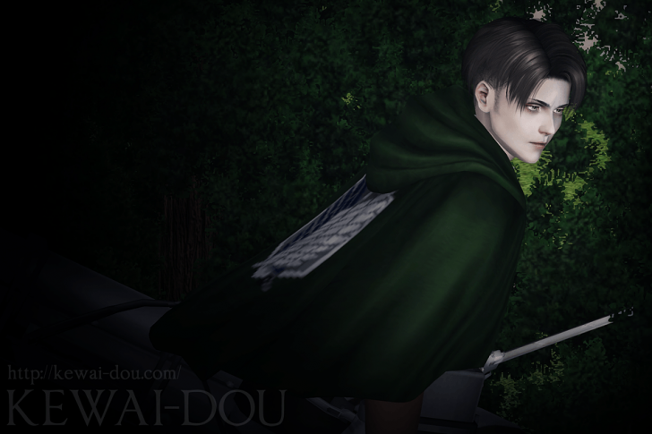 "KEWAI-DOU Sims3 ""Levi from Attack on Titan""5"