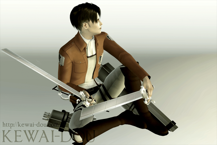 "KEWAI-DOU Sims3 ""Levi from Attack on Titan""6"