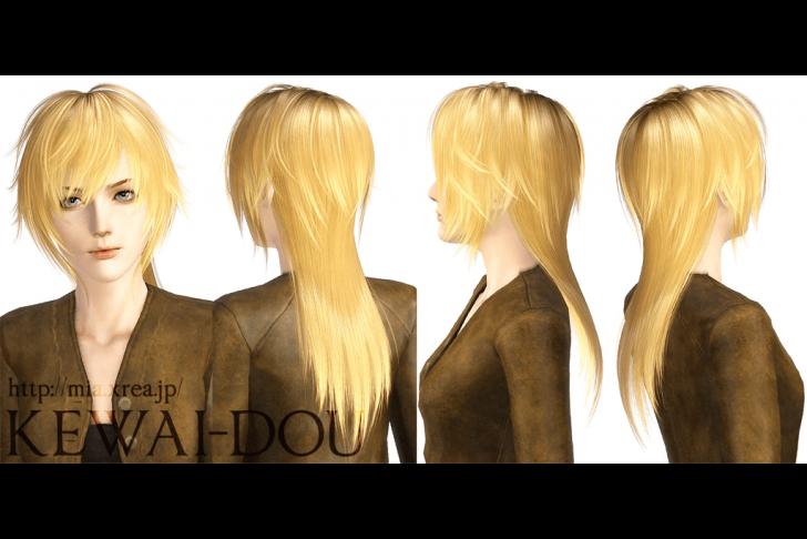 KEWAI-DOU Sims3 Tumblr1000 hair Angle