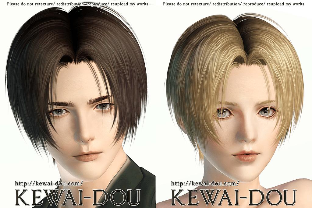 Tumblr2000 (Hair for The Sims3) | KEWAI-DOU