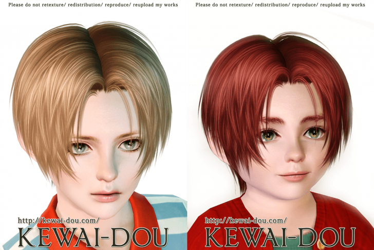 KEWAI-DOU Sims3 Tumblr2000 hair sample2