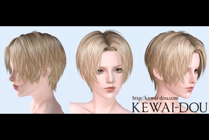 KEWAI-DOU Sims3 Tumblr2000 hair Angle