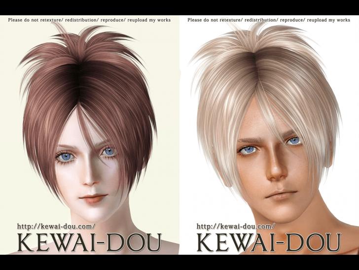 KEWAI-DOU ザ・シムズ3 髪型「Sangrose」サンプル1