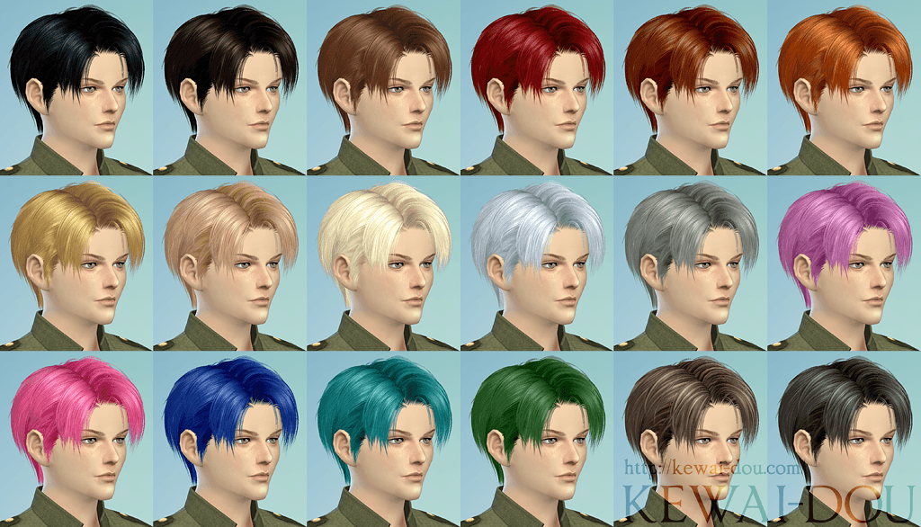 Levi The Sims4 Male Hair Kewai Dou