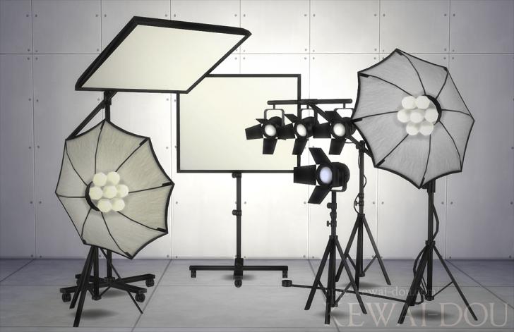 Photo Studio Sets The Sims4 Object Kewai Dou