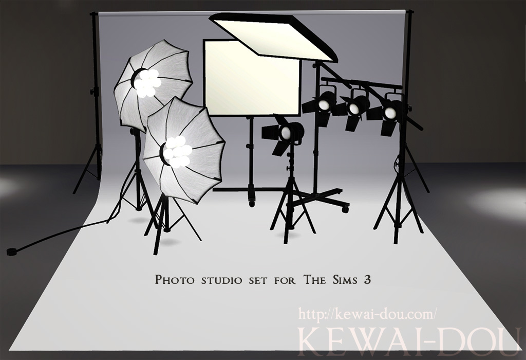 Photo studio sets the sims3 object kewai dou Sims 3 home decor photography