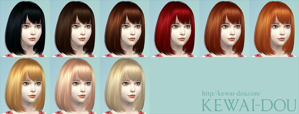 Cecile The Sims4 Child Hair Kewai Dou