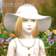 Sunhat for children (The Sims4 hat)