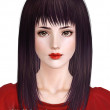 Cecile.K Long (Hair for The Sims3)